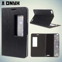 Чехол книжка с окном для Huawei MediaPad X2 - Черный