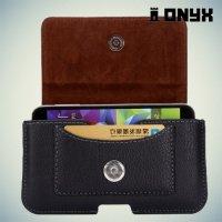 Чехол футляр на пояс ремень с отделением для карточки Onyx