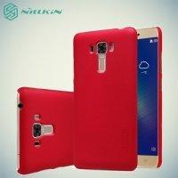 Чехол накладка Nillkin Super Frosted Shield для Asus ZenFone 3 Laser ZC551KL  - Красный