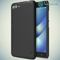 Чехол накладка Nillkin Super Frosted Shield для ASUS ZenFone 4 Max ZC554KL - Черный