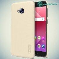 Чехол накладка Nillkin Super Frosted Shield для Asus Zenfone 4 Selfie Pro ZD552KL - Золотой