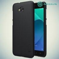 Чехол накладка Nillkin Super Frosted Shield для Asus Zenfone 4 Selfie ZD553KL / Live ZB553KL - Черный