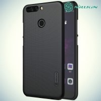 Чехол накладка Nillkin Super Frosted Shield для Huawei Honor 8 Pro - Черный