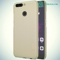 Чехол накладка Nillkin Super Frosted Shield для Huawei Honor 8 Pro - Золотой