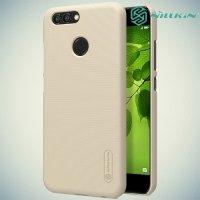 Чехол накладка Nillkin Super Frosted Shield для Huawei Nova 2 - Золотой