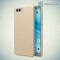 Чехол накладка Nillkin Super Frosted Shield для Huawei Nova 2s - Золотой