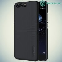 Чехол накладка Nillkin Super Frosted Shield для Huawei P10 - Черный