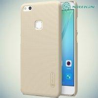 Чехол накладка Nillkin Super Frosted Shield для Huawei P10 Lite - Золотой