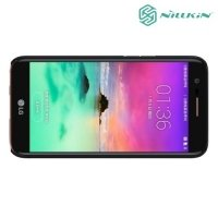 Чехол накладка Nillkin Super Frosted Shield для LG K10 2017 M250 - Черный