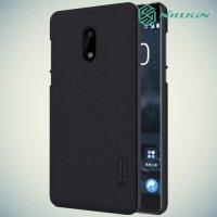 Чехол накладка Nillkin Super Frosted Shield для Nokia 6 - Черный