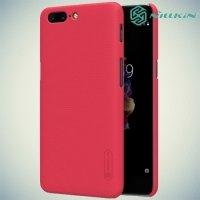 Чехол накладка Nillkin Super Frosted Shield для OnePlus 5 - Красный