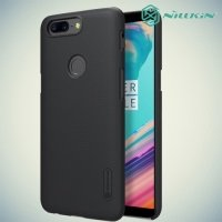 Чехол накладка Nillkin Super Frosted Shield для OnePlus 5T - Черный