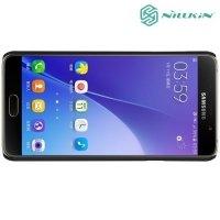 Чехол накладка Nillkin Super Frosted Shield для Samsung Galaxy A7 2016 SM-A710F - Черный