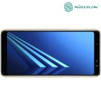 Чехол накладка Nillkin Super Frosted Shield для Samsung Galaxy A8 Plus 2018 - Золотой