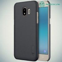Чехол накладка Nillkin Super Frosted Shield для Samsung Galaxy J2 (2018) SM-J250F - Черный