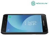 Чехол накладка Nillkin Super Frosted Shield для Samsung Galaxy J3 2017 SM-J330F - Черный