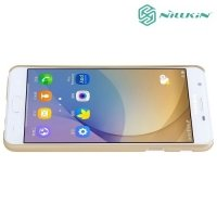 Чехол накладка Nillkin Super Frosted Shield для Samsung Galaxy J5 Prime - Золотой