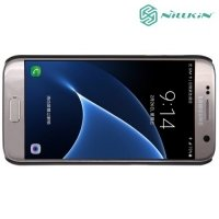 Чехол накладка Nillkin Super Frosted Shield для Samsung Galaxy S7 - Черный