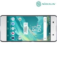 Чехол накладка Nillkin Super Frosted Shield для Sony Xperia XA - Черный