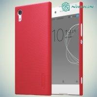 Чехол накладка Nillkin Super Frosted Shield для Sony Xperia XA1 - Красный