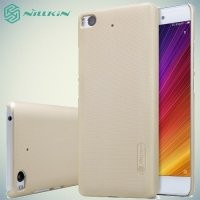 Чехол накладка Nillkin Super Frosted Shield для Xiaomi Mi 5s - Золотой