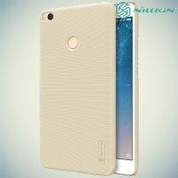 Чехол накладка Nillkin Super Frosted Shield для Xiaomi Mi Max 2 - Золотой