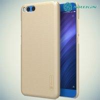 Чехол накладка Nillkin Super Frosted Shield для Xiaomi Mi Note 3 - Золотой