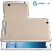 Чехол накладка Nillkin Super Frosted Shield для Xiaomi Redmi 3 - Золотой
