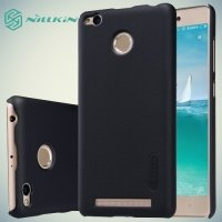 Чехол накладка Nillkin Super Frosted Shield для Xiaomi Redmi 3 Pro / 3s - Черный