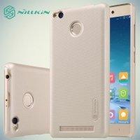 Чехол накладка Nillkin Super Frosted Shield для Xiaomi Redmi 3 Pro / 3s - Золотой