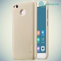 Чехол накладка Nillkin Super Frosted Shield для Xiaomi Redmi 4X - Золотой