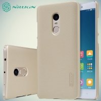 Чехол накладка Nillkin Super Frosted Shield для Xiaomi Redmi Note 4 - Золотой