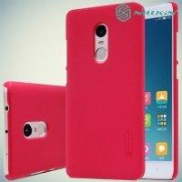 Чехол накладка Nillkin Super Frosted Shield для Xiaomi Redmi Note 4X - Красный