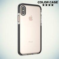 Чехол с бампером для iPhone X - Прозрачный с черным