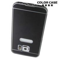 Чехол с металлическим бампером для Samsung Galaxy S6 - Черный