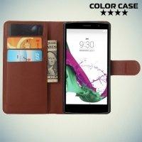 Чехол книжка для LG G4s H736 - Коричневый