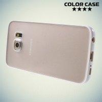 Чехол для Samsung Galaxy S6 Edge - Белый и матовый прозрачный