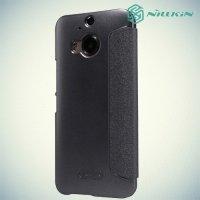 Чехол книжка для HTC One М9 Plus серый - Nillkin Fresh