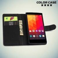 Чехол книжка для LG G4c H522y из экокожи - Черный