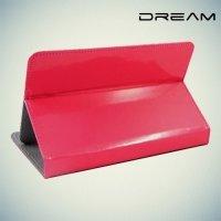 Чехол книжка для планшета 7 дюймов универсальный Dream - Розовый