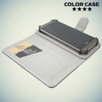 Чехол книжка для телефона 5 дюйма универсальный - Черный