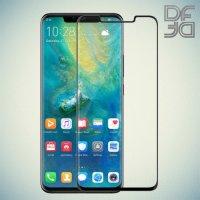 Черное защитное 3D стекло для Huawei Mate 20 Pro полноэкранное DF