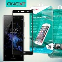 Черное защитное 3D стекло для Sony Xperia XZ2 Compact полноэкранное OneXT