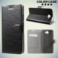 ColorCase флип чехол книжка для Huawei Y7 - Черный