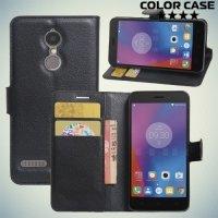 ColorCase флип чехол книжка для Lenovo K6 / K6 Power - Черный