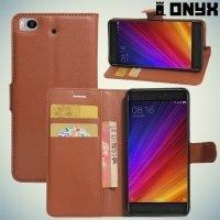 ColorCase флип чехол книжка для Xiaomi Mi 5s - Коричневый