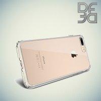 DF aCase силиконовый чехол для iPhone 8 Plus / 7 Plus - Прозрачный