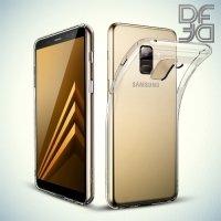DF Case силиконовый чехол для Samsung Galaxy A8 2018 - Прозрачный