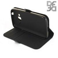 DF флип чехол книжка для Samsung Galaxy J1 mini Prime SM-J106 - Черный