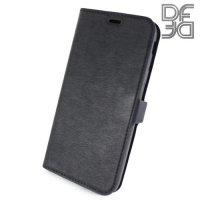 DF флип чехол книжка для Samsung Galaxy J3 2017 SM-J330F - Черный